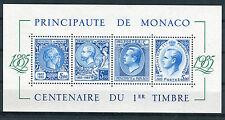 Monaco 1985 Foglietto Centenario primo francobollo di Monaco MNH