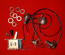 Guitar Wiring - STRATOCASTER HARNESS KIT 1 Vol 2 Tone 5Way Switch Mono Jack