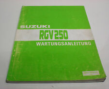 Werkstatthandbuch Wartungsanleitung SUZUKI RGV250