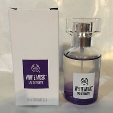 THE BODY SHOP WHITE MUSK EAU DE TOILETTE PERFUME 1.0 OZ NEW IN BOX