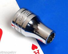 "Snap-on Tools 1/2"" drive SAE 3/8"" 12-point shallow Chrome Socket wrench NEW 1995"