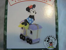 1998 Hallmark Minnies' Luggage Car Merry Miniatures Mickey Mouse Express Train