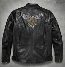 Harley-Davidson Men's 115th Anniversary Limited Black Leather Jacket XL 98000-18