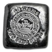 Lingot MPM 50 grammes Argent pur 999 / MPM 50 Grams Fine Silver 999 Square Bar