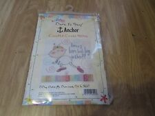 COMIC BABY PICTURE ANCHOR COUNTED CROSS STITCH KIT BY COATS CRAFTS