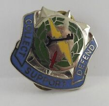 Vintage Military Lapel Pin Collect Support Defend Army Navy Marines Enameled