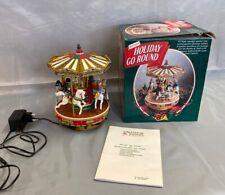 Mr. Christmas Holiday Go Round Karussell 4 Reiter sitzen auf 4 Pferden #3460