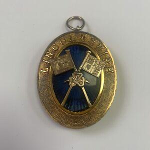 Silver Hallmarked Masonic Past Grand Standard Bearer & Collar Jewel Lincolnshire
