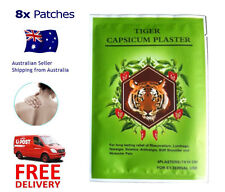 Tiger Capsicum Ache Relieving Heat Balm Patch - 8 pcs - Free Shipping - 7x10cm
