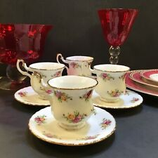 Royal Albert Old Country Roses Small CoffeE Tea Cups and Saucers- Set of 4