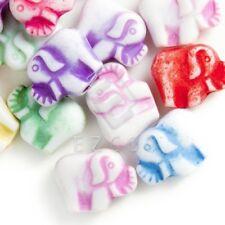 96pcs Animal Acrylic Beads Charms Mixed Colour Jewellery Making 9x12x5mm AR0304