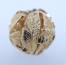 Authentic Trollbeads 18K Gold Angel's Feathers 21337 New Charm Bead Angels