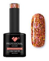 394 VB™ Line Purple Yellow Glitter - UV/LED soak off gel nail polish