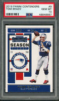 Tom Brady New England Patriots 2019 Panini Contenders Football Card #9 PSA 10