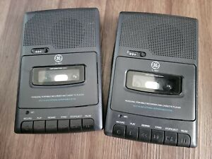 Lot of (2)GE 3-5027A Personal Portable Recorder & Cassette Players *Parts Only*