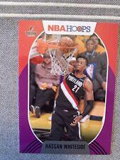 2020-21 NBA Hoops Purple Parallel #187 Hassan Whiteside Portland Trailblazers