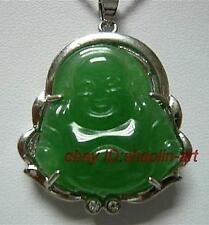 amulette, pendentif ,jade vert bouddha,+  chaîne
