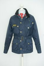 Mens Barbour Nylon International Belted Motorcycle Navy Jacket Size L