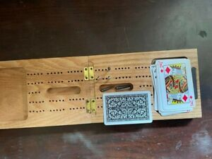 Cribbage Travel Set, Wooden, Good Condition, Never used, Sold as seen in pics