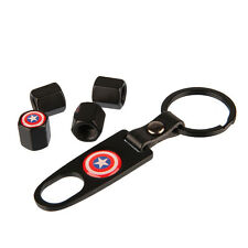 Car Keychain Tire Valve Stem Caps Tube Valve Cover Captain America OEM jB285