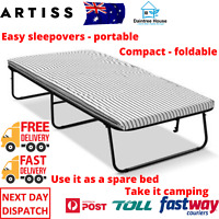 Single Compact Foldable Bed Fold Mattress Included Folding Portable Cot Camping