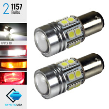2x 1157 2397LL High Power Cree Q5+SMD White Brake/Stop/Tail LED Light Bulbs