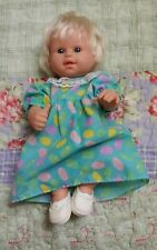 Berenguer, Rooted Blonde, Blue Eyes, Open Mouth, Toddler Doll, Dress, Shoes