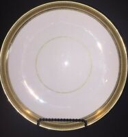 Vintage Cauldon Ware Replacement Plate Cream Gold Gilding Black Greek Key