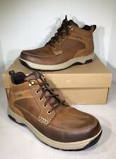 Dunham 8000 Men's Size 11.5 2E Tan Leather Cushioned Mid Boots X6-1009