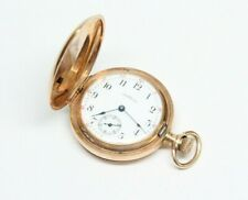 Antique 14k Gold WALTHAM Riverside Maximus Pocket Watch - 19 Jewel - Excellent