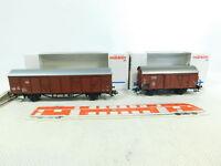 BS560-0,5# 2x Märklin H0/AC Gedeckter Güterwagen 4732/48753 DB NEM KK NEUW; OVP