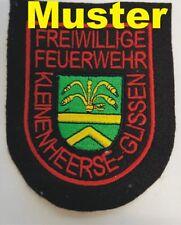 Aufnäher Feuerwehraufnäher gestickt mit Ihren eigenen Logo Filzstoff