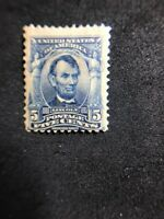 us stamps Scott 304 MH OG Small Gum Defect Lot 3