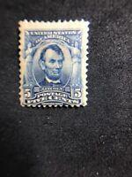us stamps Scott 304 MH OG Small Gum Defect Lot 3