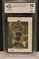 2001-02 Fleer Premium  #5 Michael Jordan BCCG 10 Mint or better WIZARDS