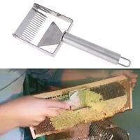 Herramienta de apicultura acero inoxidable colmena miel tenedor rascador paQA