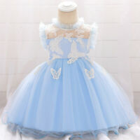 Baby Girl Christening Baptism Dress Wedding Party 1 Year Birthday Princess Dress