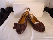 NEW TONY BIANCO LEATHER PELLO BROWN SLING BACK SHOES SIZE 5