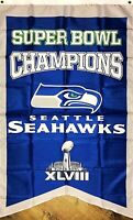 Seattle Seahawks NFL Super Bowl Championship Flag 3x5 ft Sports Banner Man-Cave
