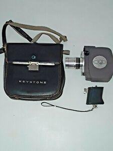 COMPLETE WORKING Keystone Zoom F1.8 K-606 8mm Movie Camera w Light Meter & Case