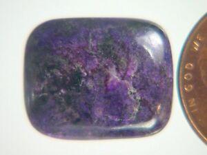 BUTW Genuine African Sugilite 9 ct Rectangle Cabochon Lapidary Gemstone 9982K