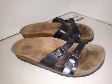 BIRKENSTOCK Women's Black Leather ~ Ibiza 2 strap sandals38 Size 7