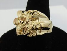 Nugget Bling Bling Ring Style 2 Size 5 Mens Squared Off Style
