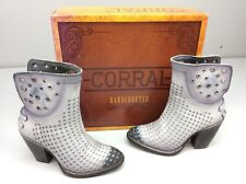 Corral C3200 Boots Laser Punched Leather Hand Painted Size 6 Women's Cowgirl
