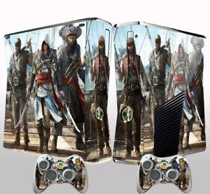 Xbox 360 Slim Console Skin Sticker Assassin's Creed Vinyl Decal Skin Sticker