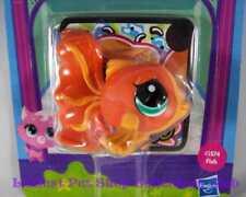 Littlest Pet Shop Hasbro Single Orange Gold ANGEL FISH lot #3574 Retired NIB