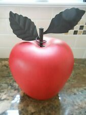 """RED Artificial Decorative APPLE w/ Stems-EXTRA LARGE 11"""" H - Tabletop Fake Fruit"""