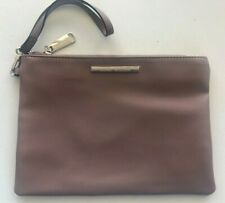 STEVE MADDEN PURPLE  FLAT MAKE UP COSMETIC BAG CLUTCH POUCH WRISTLET HANDBAG