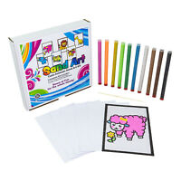"""Sea Life Sand Art Picture DIY Kit 10 Colored Sands and 6  5/""""x7/"""" Sheets"""