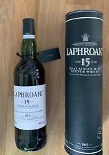 rare: LAPHROAIG 15 Years Single Islay Malt Whisky, ungeöffnet